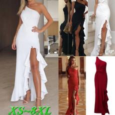 slitdre, Plus Size, ruffle, long dress
