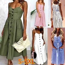 Summer, Sleeveless dress, Plus Size, sundress