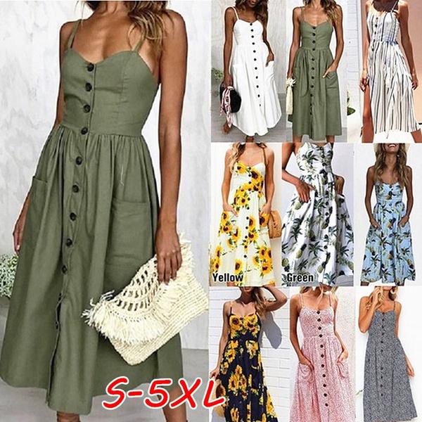 Sleeveless dress, Plus Size, sundress, long dress
