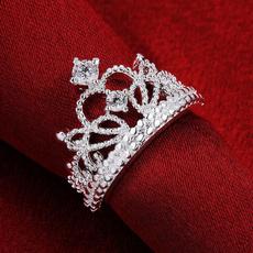 Sterling, Jewelry, crownring, Princess