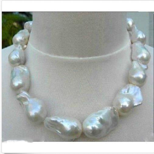 "Huge Color 15-20mm sea baroque pearl necklace 18 /"" Beautiful Jewellery"