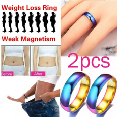 rainbow, weightlo, Jewelry, slimmingmagneticring