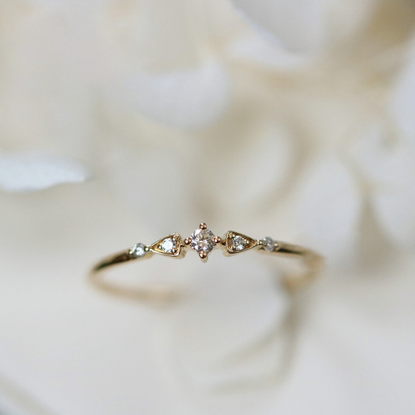 Valentine/'s Day Gifts Sapphire Engagement Ring for Women Black Friday Dainty Sapphire Promise Ring personalize in Rose Gold or White gold