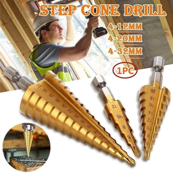Steel, stepdrill, holecutter, conedrillbit