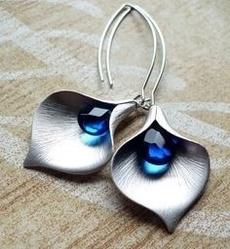Blues, Sterling, Silver Jewelry, Flowers