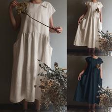 Summer, short sleeve dress, women39sfashion, Necks