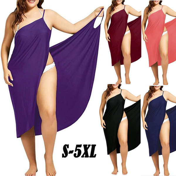 Plus Size, Cotton, Dress, swim dress