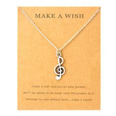 musicjewelry, musicnotenecklace, cutenecklace, Gifts