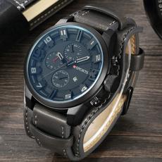 Chronograph, Fashion, leather strap, leather
