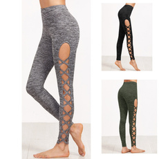 Leggings, trousers, Yoga, Hollow-out
