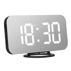snoozealarmclock, led, usb, mirrorsurface