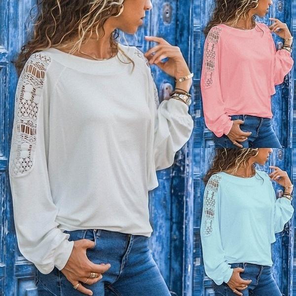 blouse, Blouses & Shirts, Lace, Sleeve