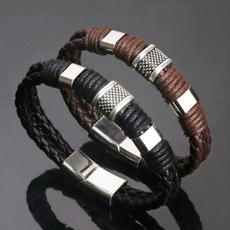 Fashion, punk, handmadebangle, genuineleatherbracelet