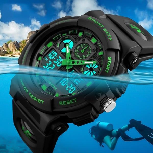 quartz, led, Waterproof, Bracelet Watch