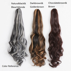 brown, ponytailhair, Fashion, clip in hair extensions