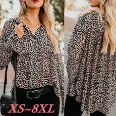 Deep V-Neck, blouse, Plus Size, long sleeve blouse
