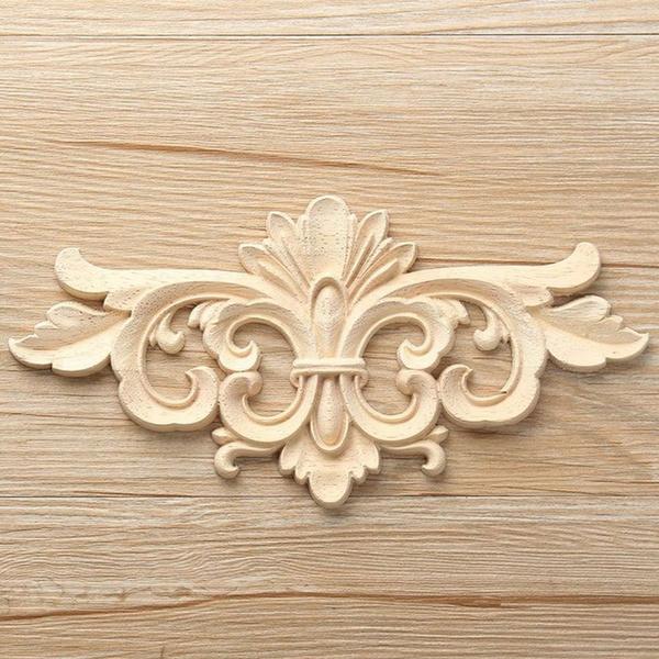 Wooden Crafts Natural Frame Doors, Wooden Appliques For Furniture
