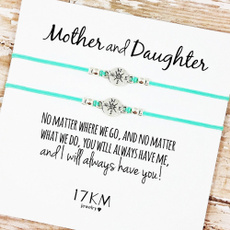 giftcardbracelet, beachankletchain, motheranddaughterlovecard, Love