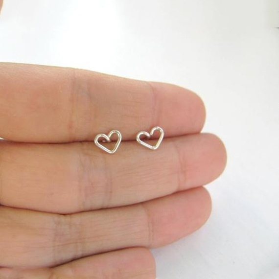 Heart, 8MM, Jewelry, Stud Earring