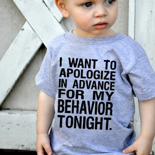 childrentshirtsforboy, lettersprint, Fashion, Shirt