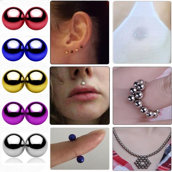 Fake Nipple Piercing Magnetic Nipple Balls Fake Piercings Fake Nipple Jewellery