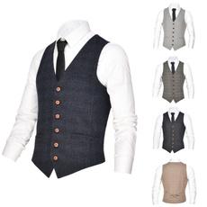 menswaistcoat, Vest, plaid, businesswaistcoat