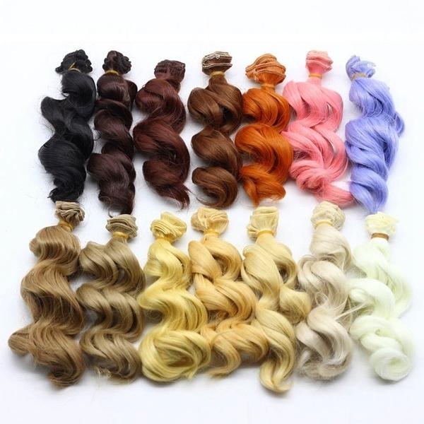 wig, doll, dollhairwig, Handmade