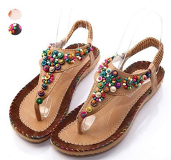 bohemia, thongshoe, Sandals, bohemianslipper