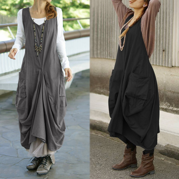 Fashion, vest dress, dungareedres, solidcolordres