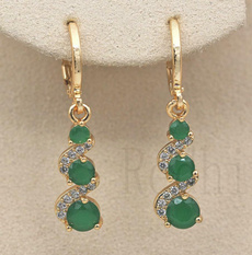 yellow gold, jadeearring, Dangle Earring, Jewelry
