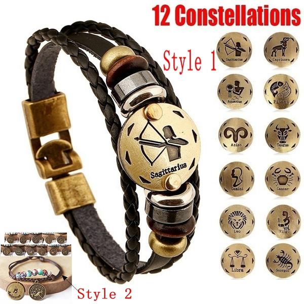 Charm Bracelet, Jewelry, leather, Vintage