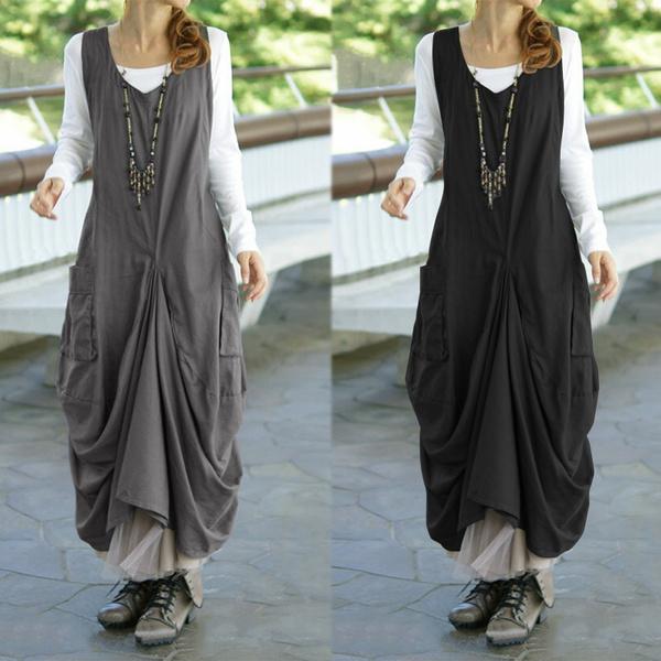 Fashion, dungareedres, Vintage dress, long dress