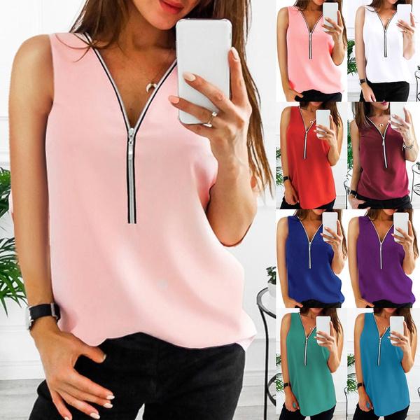 blouse, Tops & Tees, Vest, blouse women