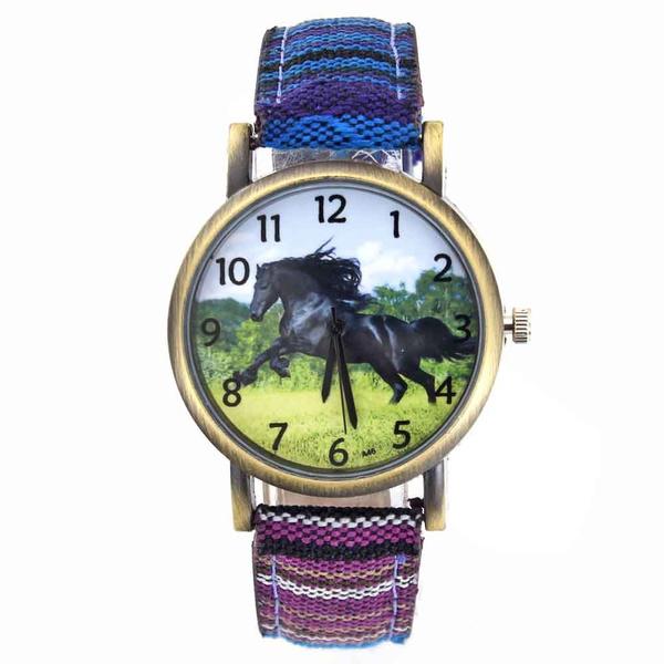 horse, quartz, wristwatch, Watch