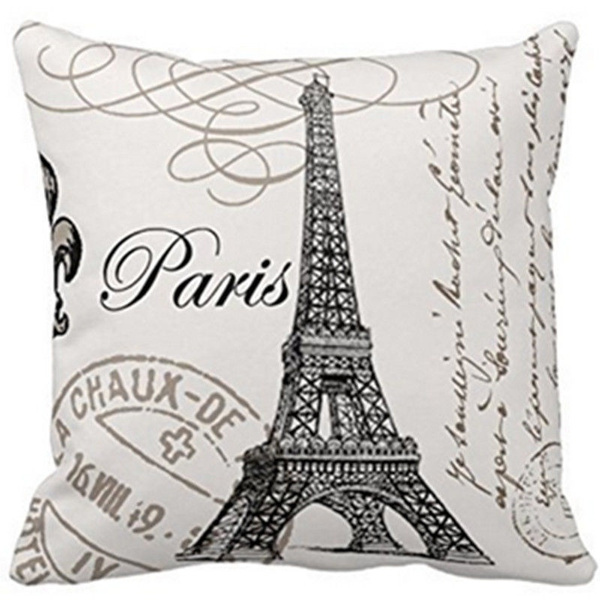 case, pariscushioncover, soft pillowcase, Cover