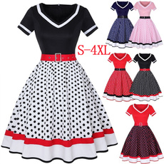 Women, short sleeve dress, Vintage Dresses, Sleeve