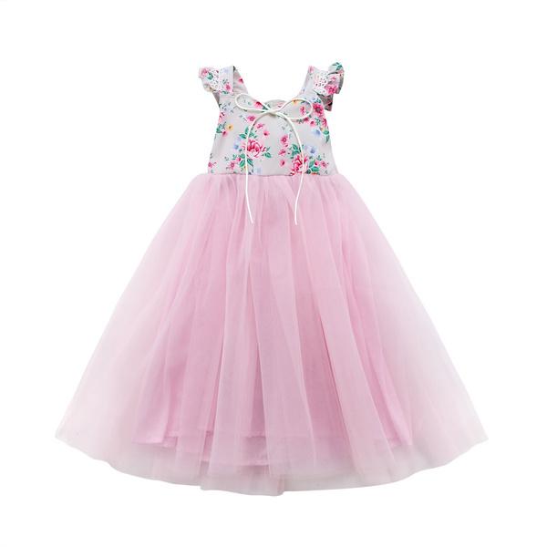 Flowers, Lace, sundress, long dress