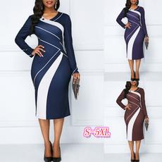 work dress, printeddres, Necks, Sleeve