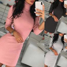 Mini, Fashion, Sleeve, soliddres