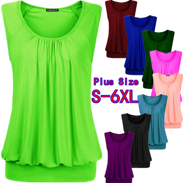 Summer, Fashion, Pleated, womens top