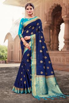 Blues, saree, art, sari