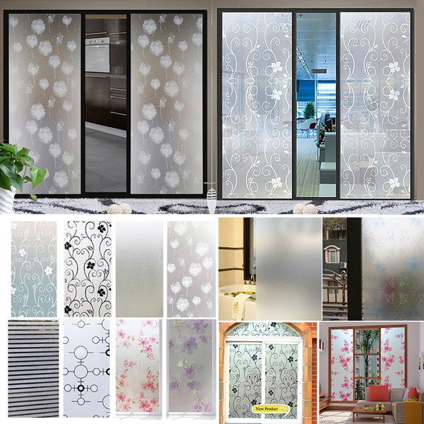 45 100cm Waterproof Frosted Privacy Bathroom Window Glass Film Stickers Pvc Self Adhesive Film Home Decor Wish