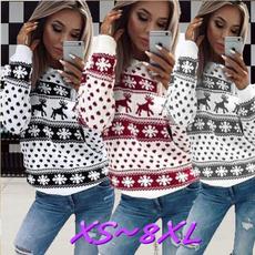 Fashion, Christmas, Long sleeved, Sweaters