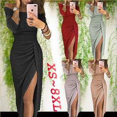 slim dress, strapless, Plus Size, Sleeve
