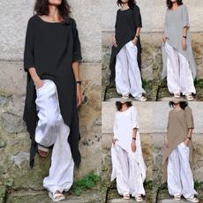 blouse, Cotton, Plus size top, longtop