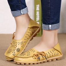 Flats, Platform Shoes, leather, Mother