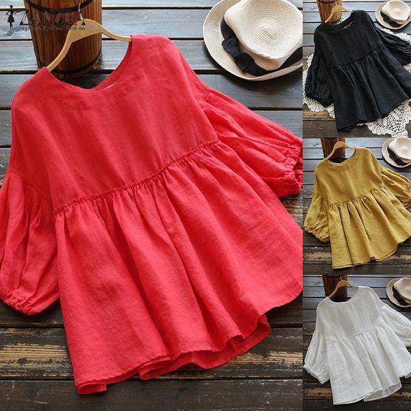 Fashion, short sleeves, cottontop, Women's Fashion