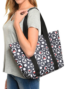Mickey, Totes, zippers, zippered
