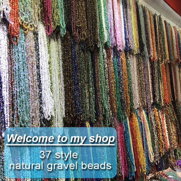 Necklace, Bracelet, irregularbead, gravelbead