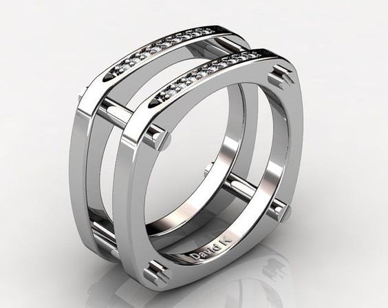 White Gold, Sterling, DIAMOND, wedding ring